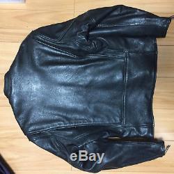 Aero leather 42 goat skin cafe racer Motercycle jacket black single