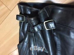Aero leather 42 horsehide highwayman Motercycle jacket FQHH black single cafe