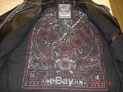 Affliction Black Premium Label MENS Leather Jacket Size X LARGE XL