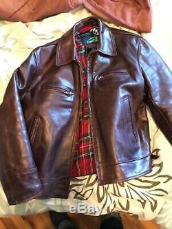 Alexander Leathers Horsehide Highwayman Roadster Leather Jacket sz 44