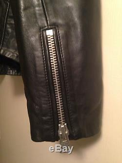 AllSaints All Saints Black Moto Leather Jacket US Size 6-8 UK 12-14
