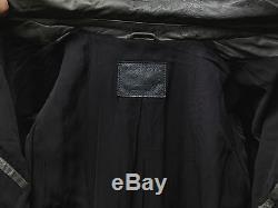 All Saints Akira Grey Leather Lamb Jacket Biker L mens (AT)