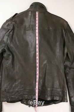 All Saints Allsaints Men Axis Leather Biker Motorcycle Jacket M Medium $650