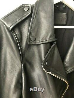 All Saints Black Balfern Biker leather jacket UK size 14