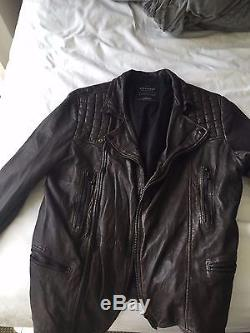 All Saints Conroy Leather Biker Jacket AllSaints Spitalfields