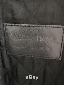 All Saints Gidley Ladies leather Jacket size 12 Oxblood