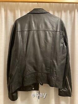 All Saints Holt Biker Leather Jacket Men Large