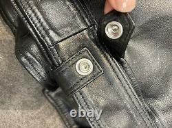 All Saints Leather Biker Motorcycle Jacket like new Size 12UK/ 8US RRP AUD$600