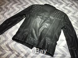 All Saints Leather Cargo Jacket Men's Small