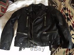 All Saints Leather Moto Jacket, Size M