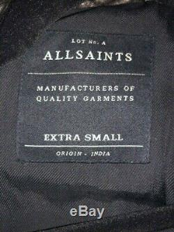 All Saints Men's Leather Jacket Size Extra Small. Great Deal! Act Now