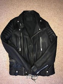 All Saints Mishima Leather Biker Jacket Mens Medium