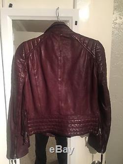 All Saints Oxblood Leather Jacket 12UK/8US
