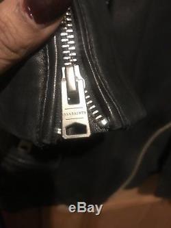 All Saints Real Leather Biker Jacket Size 8
