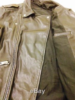 All saints Kahawa leather biker Jacket L
