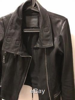 All saints leather jacket US 0 UK 4