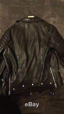 All saints mens leather jacket
