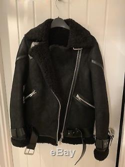 Allsaints Hawley Shearling Jacket Small
