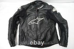 Alpinestars Leather Motorcycle Riding Racing Jacket Sz-40usa Airflow Biker Coat