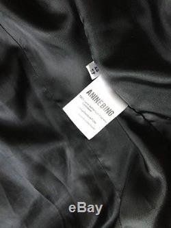 Anine Bing Black Leather Biker Jacket XS Retail $1099