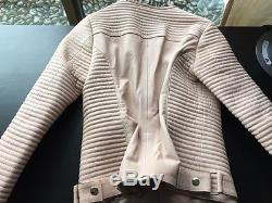 Anine Bing Classic Leather Jacket Nude Size Small