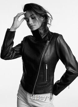 Aritzia Babaton Black Leather Moto Jacket, Large, Used Once