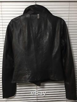 Aritzia Mackage Black Lambskin Motorcycle Leather Jacket Size M