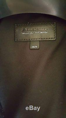 Aritzia Mackage Kenya Leather Jacket Black XS