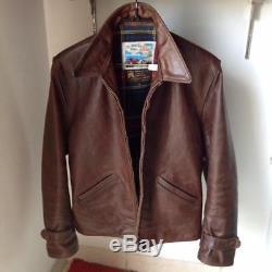 Authentic AERO LEATHERS august LOCHCARRON scotland biker leather jacket size 40