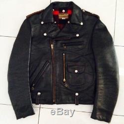 Authentic BUCO magnifico D-Pocket J22 J24 biker leather jacket size 36
