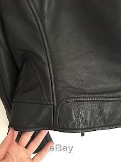 Authentic Balenciaga Dark Grey Leather Biker Jacket, FR36, Barely Worn