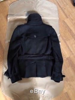 Authentic Burberry Brit Lamb Shearling Jacket In Black Xs S Uk4 Us2
