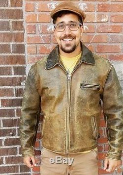 Awesome R. B. C Vintage 100% Steerhide Leather Motorcycle Jacket Size XL Mad Max