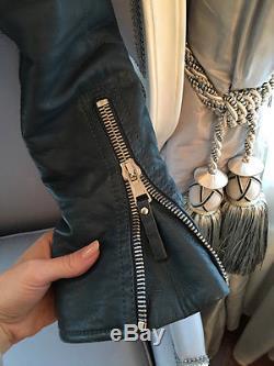 BALENCIAGA MOTO leather JACKET SIZE 36 Celeb fav like Kim Kardashian
