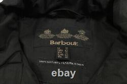 BARBOUR INTERNATIONAL Waxed Down-Fill Storm Jacket Size 16 Puffer Coat Rain
