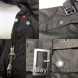 BARBOUR International Cincinnati Steve McQueen Wax Waxed Jacket Black Small S XS