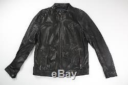 BELSTAFF Mens Black Leather Gransden Motorcycle Jacket Size EU 56 US 46 $1295