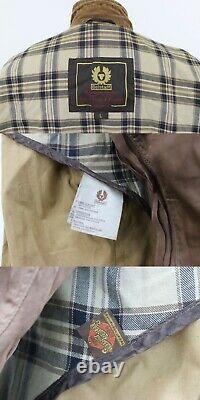 BELSTAFF ROADMASTER Mens Lightweight Waxed Cotton Belted Jacket sz L Uranium 80