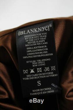 BLANKNYC Women Chestnut spice Suede Motorcycle Jacket Biker Brown Moto S $188