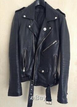 BLK DNM Leather Jacket # 5 Moto Jacket Used Size Small