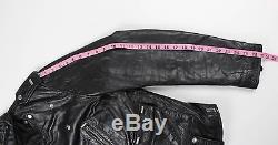 BLK DNM Mens Black Leather Motorcycle Biker Jacket Size M Medium $995
