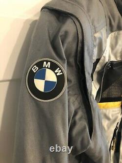 BMW Motorrad Rallye 2 Motorcycle Jacket Gray Yellow Size 44L (106)