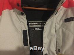 BMW Red Grey Ralley 2 JACKET and PANTS Mens Genuine Motorrad Motorcycle Grey