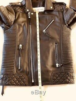BODA SKINS Kay Michaels Mens Genuine Leather Black Oil Jacket UK Medium