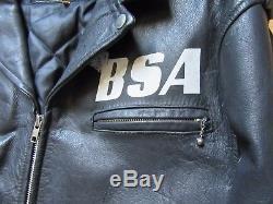 BSA Rocker Revenge Vintage motorcycle British George Micheal Cafe Racer Jacket