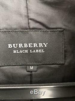BURBERRY Black Label Riders Leather Jacket MEN M Size Outerwear Long Sleeve USED