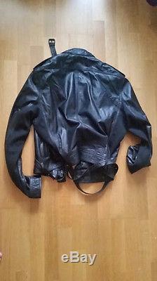 BURBERRY PRORSUM LEATHER BIKER MOTORCYCLE JACKET EU 52 SLIM FIT FEAR OF GOD