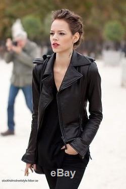Balenciaga Classic Moto Ardoise Lambskin Leather Jacket size 36 MUST SEE