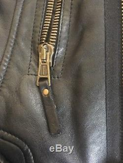 Balenciaga Classic Moto leather jacket, Black with Brass Hardware 2010 44