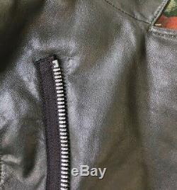 Balenciaga Moto Leather Jacket 2010 FR 38 Pine